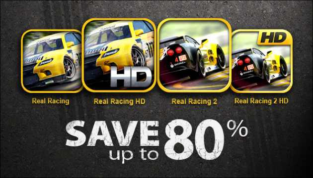 real racing sale header Real Racing Sale: Time To Start Racing!